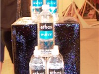 A display of Ethos water