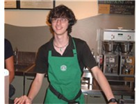 A Starbucks barista