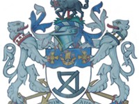The coat of arms of the former County Borough of Sunderland council.