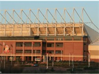 View of the Stadium of Light from the opposite side of the River Wear.