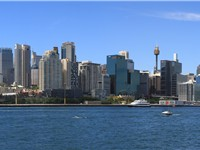 The City of Sydney, viewed from Balmain.