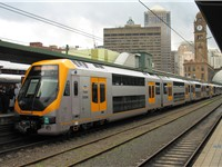 An EDI M-set (Millennium) train at Sydney's Central.