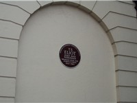 A plaque at SOAS's Faber Building, 24 Russell Square commemorating T S Eliot's years at Faber and Fa