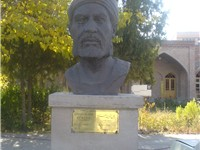 Statue of Kamaleddin Behzad near the Tomb of Two Kamals