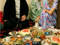 Tajik family celebrating Eid