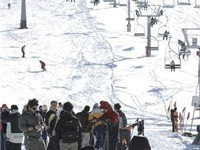 International Snowboard championship in Dizin. The ski resort of Dizin is situated to the north of T