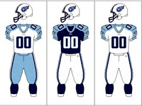 Tennessee Titans uniform combination