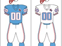 Tennessee Oilers uniform: 1997-98.