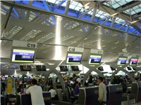 Check-in desks in Suvarnabhumi Airport Bangkok