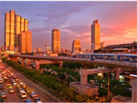 Bangkok, the largest city and business and industrial center of the country