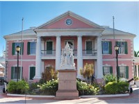 Bahamian Parliament, located in downtown Nassau