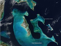 The Bahamas from space. NASA Aqua satellite image, 2009