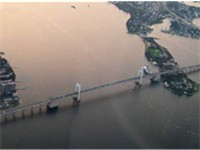 Aerial View of the Throgs Neck Bridge