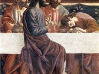 Castagno's version of The Last Supper, depicting St. John sleeping