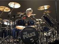 Drummer Stewart Copeland performing in Marseille with the group