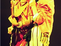 Ronnie Wood (left) and Mick Jagger (right), during the 1975 Tour of the Americas