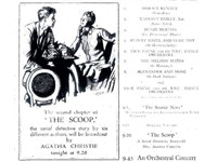 The billing from the Radio Times issue of January 11-17, 1931, illustrating Agatha Christie's broadc