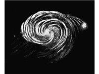 Sketch of the Whirlpool Galaxy by Lord Rosse in 1845, 44 years before van Gogh's painting