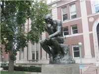 """The Thinker"" in front of Philosophy Hall at Columbia University in New York City"