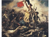 Eug ne Delacroix's Liberty Leading the People, 1830. A later example of revolutionary art, which ret
