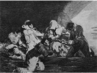 Goya's No se puede mirar (One can not look at this) in The Disasters of War (Los desastres de la gue