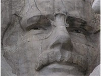 Roosevelt's face on Mount Rushmore