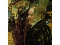 Carlyle (left) depicted with Frederick Maurice in Ford Madox Brown's painting Work (1865)