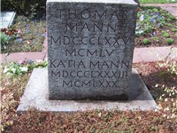 Thomas Mann is buried at Kilchberg