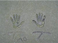 Turner's handprints at the Rotterdam Walk of Fame.