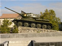 Soviet tank monument in Tiraspol