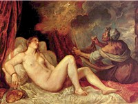 Titian's unmatched handling of color is exemplified by his Danaë, one of several mythological painti
