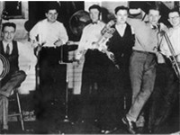 Bix Beiderbecke and his Rhythm Jugglers, a pickup band formed, and dissolved, in 1925. From left to