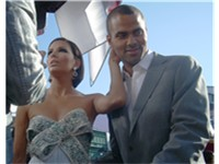 Parker with wife Eva Longoria at the 2008 Emmy Awards