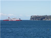 Spirit of Tasmania III entering Sydney harbour.