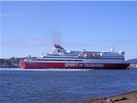Spirit of Tasmania III in the Mersey River Devonport