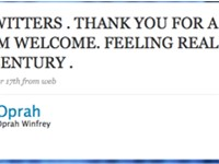 Oprah Winfrey's first tweet.