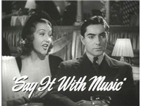 Tyrone Power with Ethel Merman in a trailer for Alexander's Ragtime Band (1938)