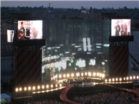 U2 in their hometown of Dublin during the Vertigo Tour