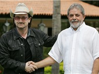 Bono with President Luiz In cio Lula da Silva of Brazil