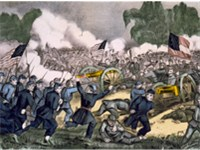 Battle of Gettysburg, lithograph by Currier & Ives, ca. 1863