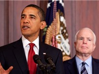 Barack Obama and John McCain.