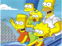 The park's current guide map features an advertisement for The Simpsons Ride