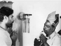 A scene from the film Mathilukal directed by Adoor Gopalakrishnan based on the novel by Basheer