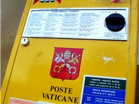 The stamp vending machine of the Vatican Postal Service