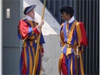 Swiss Guard in their traditional uniform