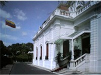Miraflores Palace, official workplace of the president of Venezuela