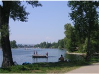 "The ""Alte Donau"", one of the top bathing and recreation spots"