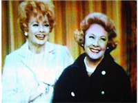 Vivian Vance (right) as Vivian Bagley on a 1967 episode of The Lucy Show; pictured with Lucille Ball