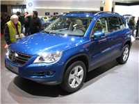 Front View of a 2008 Tiguan Track &amp; Field