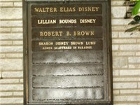 Walt Disney's grave site along with wife Lillian, son-in-law Robert B. Brown and adopted daughter Sh